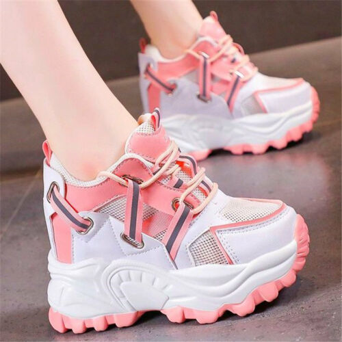 Women Summer Platform Wedge High Heels Fashion Sneakers Round Toe Sandals Boots