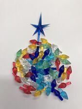 50 Replacement MEDIUM TWIST BULBS Ceramic Christmas Tree Lights 9 PRETTY COLORS