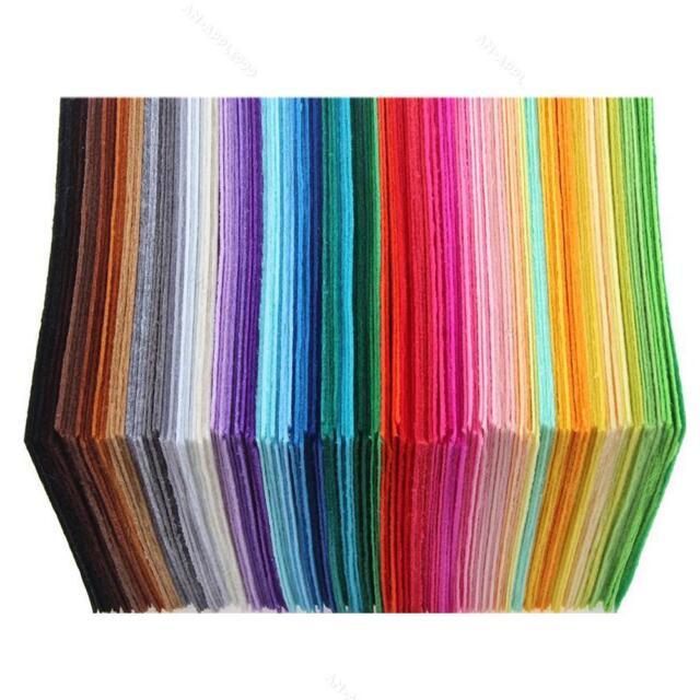 40 Colors Felt Sheets #A DIY Craft Supplies Polyester Wool Blend Fabric 10x15cm
