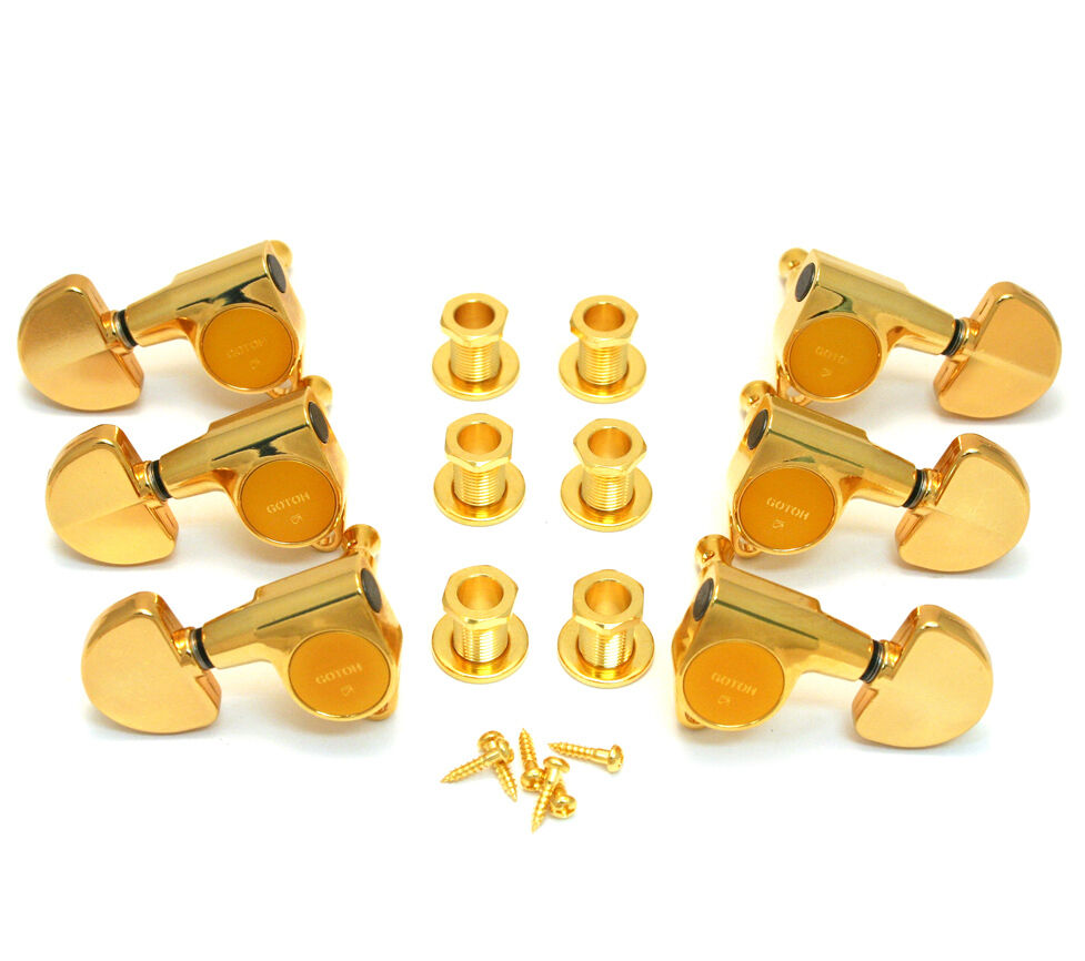 Gotoh Gold Sealed 3x3 Full Größe 18 1 Ratio Guitar Tuners TK-7740-002