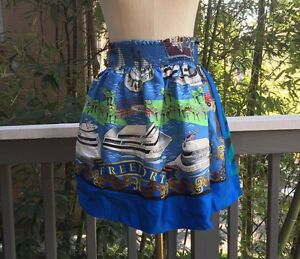 URBAN-Outfitters-RENEWAL-Skirt-Scarf-Silk-Freeport-S-M