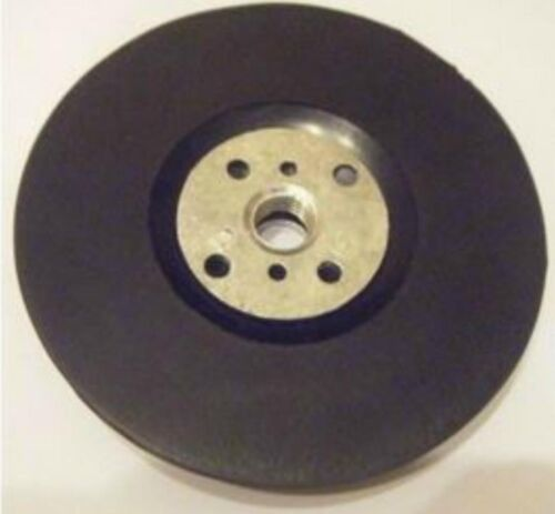 100mm Rubber Pad With Locking Nut For Fibre Discs Free Postage 10mm Thread