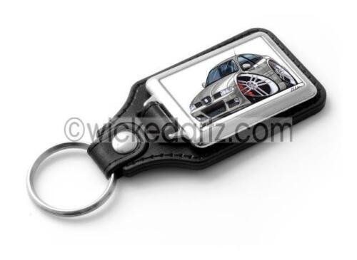 RetroArtz Cartoon Car Seat Leon Cupra R in Silver Car Classic Key Ring
