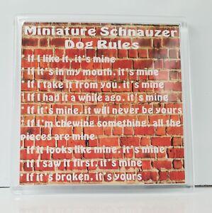It/'s Mine!/' Dog Fridge Magnet Ideal Present//Gift Miniature Pinscher Rules