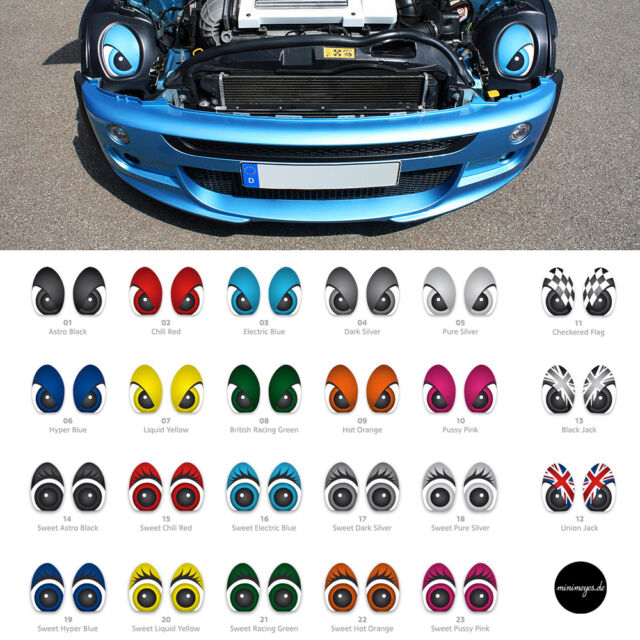 * minimeyes * Eyes Sticker / BMW MINI One Cooper S JCW GP Works Augen / R50 R53