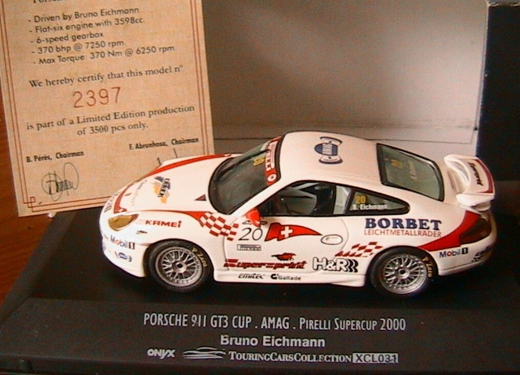 PORSCHE 911 GT3 CUP  20 AMAG PIRELLI SUPERCUP 2000 BRUNO EICHMANN ONYX XCL031