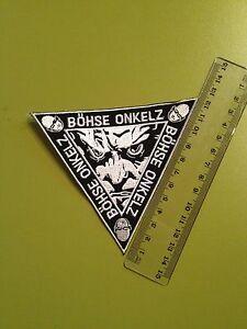 Boehse-Onkelz-Es-ist-soweit-Dreieck-Aufnaeher-Patch-aus-Sammlung