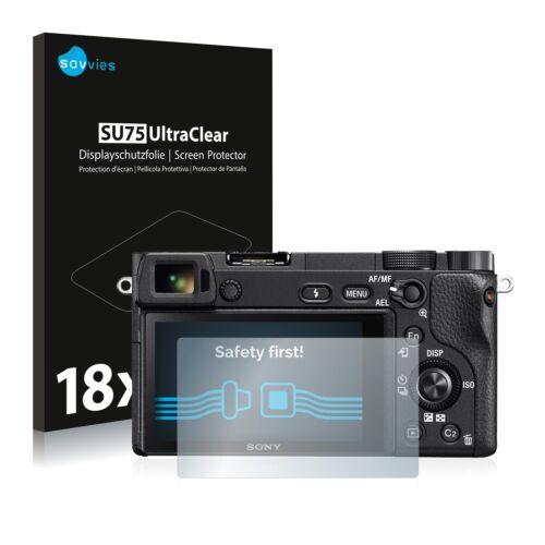 Protector de pantalla 18x para Sony Alpha 6300 película protectora claro diapositiva protector de pantalla