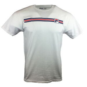 FILA-Mens-T-Shirt-S-M-L-XL-2XL-Logo-Graphic-Tee-Athletic-Sports-Apparel-NEW