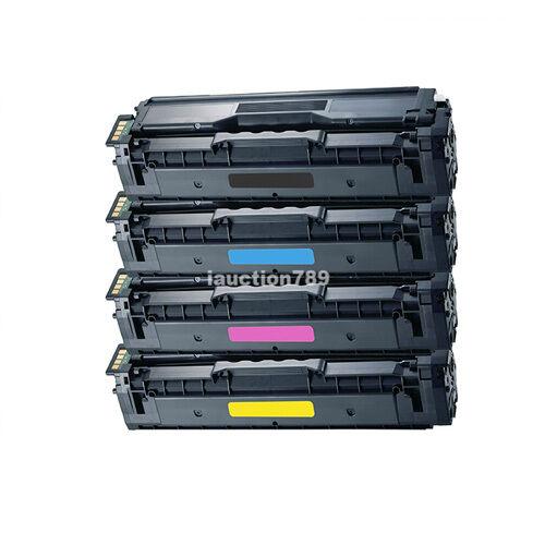 4x Generic CLT-504S BK/C/M/Y Toner for Samsung CLP-415NW CLX-4195FW CLX-4190