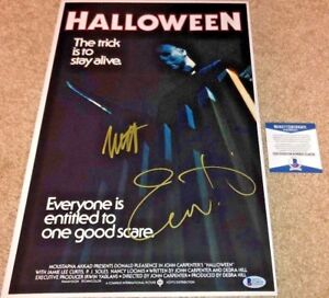 Details about JAMIE LEE CURTIS NICK CASTLE SIGNED 12X18 POSTER PHOTO  HALLOWEEN 2018 NEW BAS A