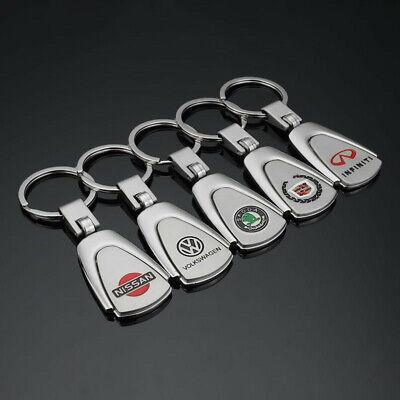Car Logos Fashion New Titanium Key Chain Car Keychain Ring Keyfob Metal Keyrings