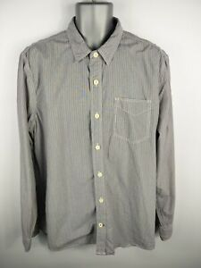 MENS-FAT-FACE-SLATE-WHITE-STRIPED-BUTTON-UP-LONG-SLEEVED-CASUAL-SHIRT-XL-XLARGE