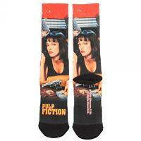 Pulp Fiction Movie Crew Socks Poster Uma Thurman Quentin Tarantino Sublimated