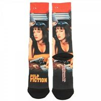 Pulp Fiction Movie Crew Socks Poster Uma Thurman Quentin Tarantino Sublimated