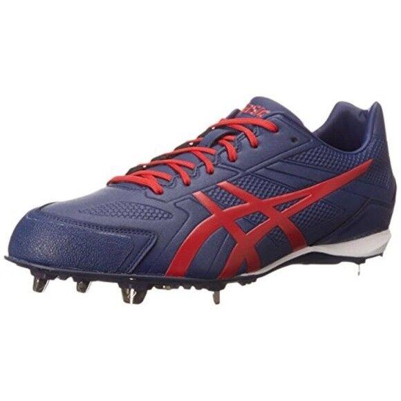 Asics Base Burner Blue Faux Pelle Cleats Shoe 13