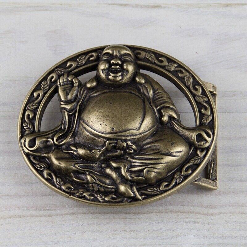 Buddha Hippie Gürtelschnalle Messing Buckle Belt Wechselschließe GS02AB