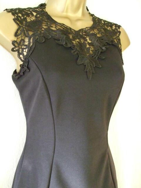 NEW £45 ***SALE*** JANE NORMAN SIZE 14, BLACK CROCHET FRONT BODYCON PARTY DRESS