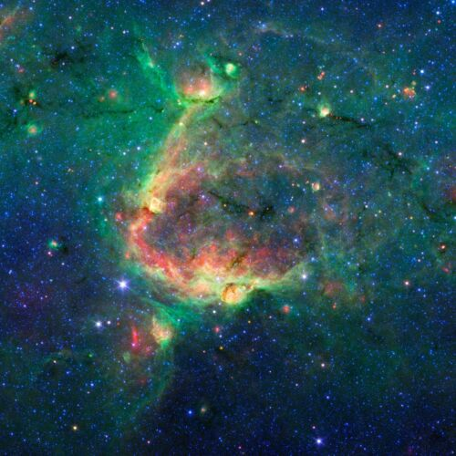 INFRARED SPACE STARS GALAXIES POSTER 36x36 BIG HI RES