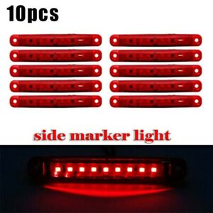 For-Camion-Rimorchio-Autobus-Indicatore-Laterale-Luce-Dc-12-24V-ABS-9-LED-Sealed
