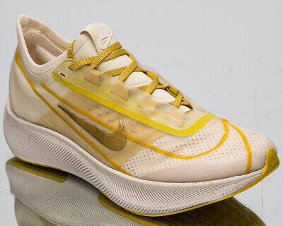 Nike Zoom Fly 3 Imprimé Premium Femmes Clair Crème or Jaune Chaussures Course | eBay