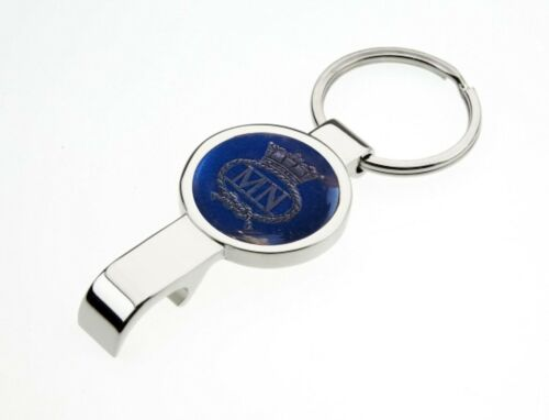 MERCHANT NAVY POLISHED METAL KEYRING AND BOTTLE OPENER