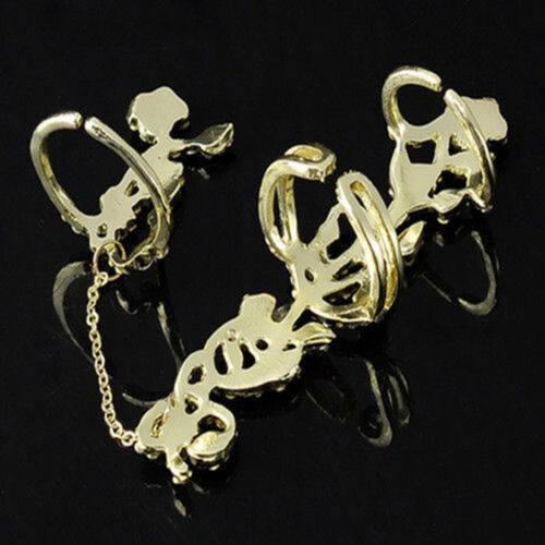 Armor Rock Double Knuckle Full Finger Gothic Ring