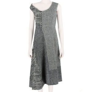 Stella-McCartney-Grey-Tone-Off-the-Shoulder-Panelled-Wool-Tweed-Dress-IT38-UK6