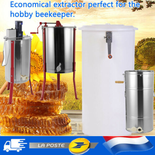 Extracteur Miel Manuel Centrifugeuse 2//3//4 cadres Apiculture Acier Inoxy//Plastic