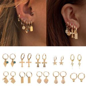 Trendy-Punk-Hoop-Dangle-Earrings-Men-Women-Boys-Stainless-Steel-Ear-Stud-Jewelry