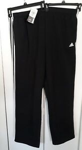 5049b8e34 Adidas - Mens Big & Tall sweatpants - 3XLT - black with white ...