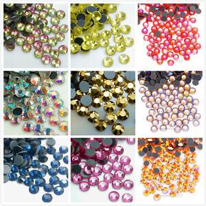 Hot-fix-Flat-back-Crystal-Rhinestones-Art-Mix-Iron-On-1440pcs-DMC-Top-Quality