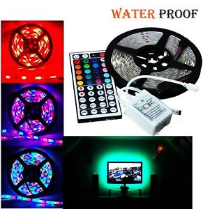 5M-3528-RGB-SMD-Flexible-Waterproof-300-LED-Strip-Lights-Lamp-DC-12V-Home-Decor