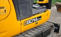 JCB 8014CTS MINI DIGGER COMPLETE DECAL STICKERS SET WITH SAFETY WARNING