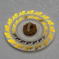 40 Splash Design Dinner /wedding Disposable Plastic Plates Silver/gold-free Ship