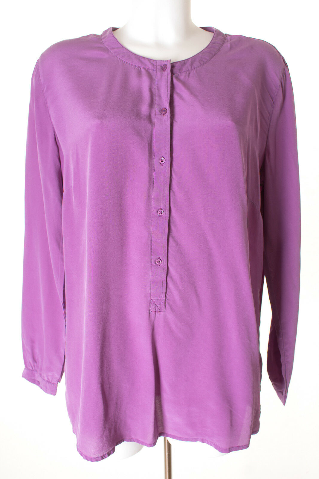 (THE MERCER) N.Y Blause Blouse Shirt Seide Damen Gr. DE 42 in lilat