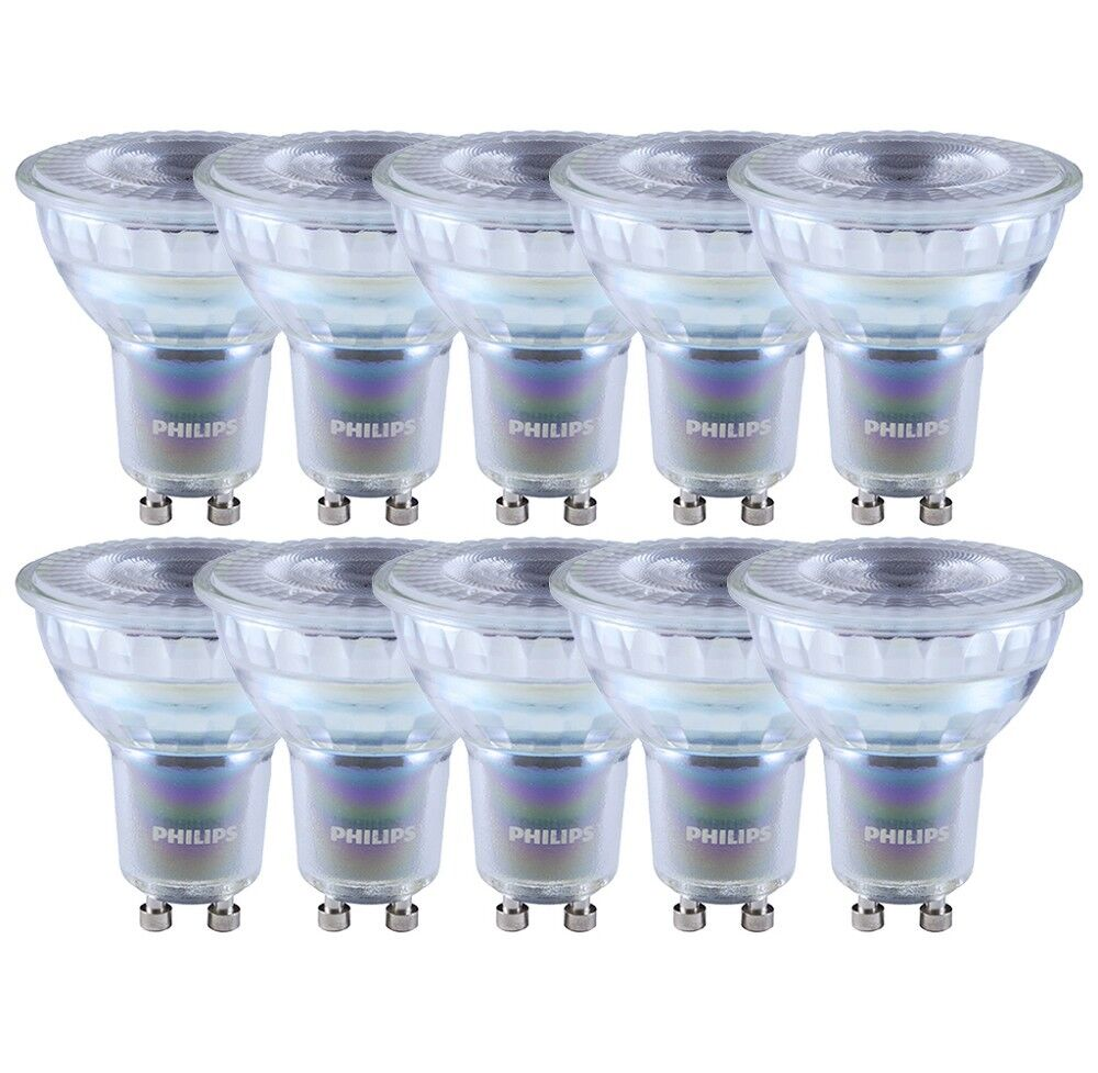 10 x Philips MASTER LEDspot D 4.9-50W Glas LED GU10 927 36° dimmbar wie 50W