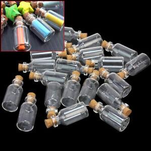 MINI-Piccolo-Tiny-Sughero-Tappo-Bottiglie-di-vetro-Fiale-BARATTOLI-Craft-Supply-HOT