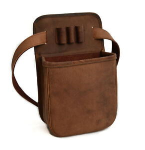 Leather-Distressed-Shooting-Shotgun-50-Cartridge-Pouch-by-John-Shooter