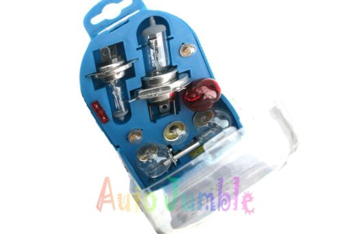 VAUXHALL ASTRA Mk IV 12pc Emergency Bulb Fuse Set Spare H1 H4 H7 EU Travel Kit