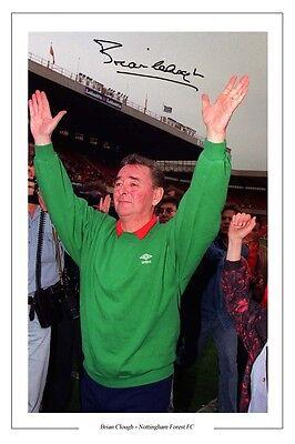 Brian Clough Nottingham Forest Last Match POSTER