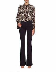 5b3e531ac3817 J BRAND Womens Maria Flare Jeans Vintage Seriously Black High Rise ...