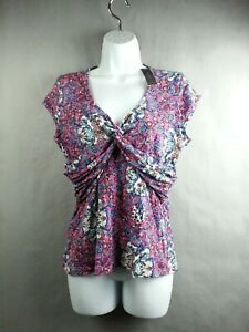 NEW-NWT-Bisou-Bisou-Sleeve-Less-Top-Shirt-Size-Large