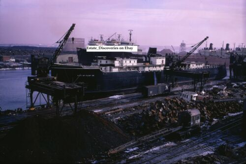 Great Lakes Freighter Ship Car Ferry Lot of Original Photos from Slides on CD