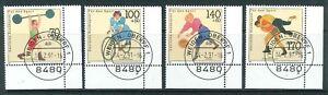BRD-Mi-Nr-1499-1502-Ecke-4-Eckrand-FN-Formnummer-Vollstempel-EST