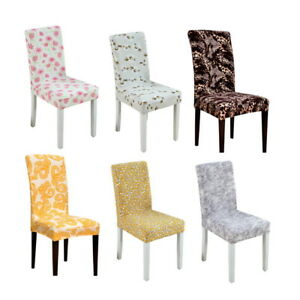 Image Is Loading USA Floral Printed Stretch Dining Chair Covers Weddings