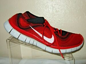 premium selection d7ce6 11985 Image is loading Nike-Free-Flyknit-5-0-Red-Black-White-