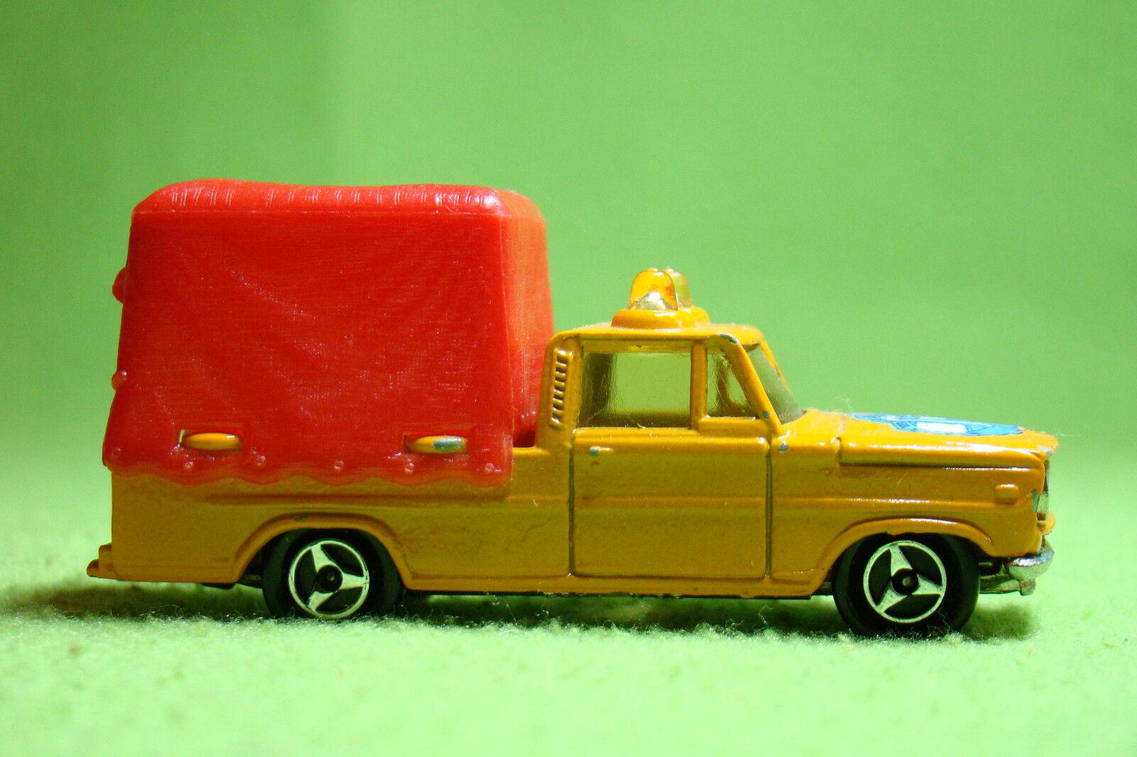 Modellauto - - - Majorette 374 - PKW mit Planen Anhänger - OVP f3a23d
