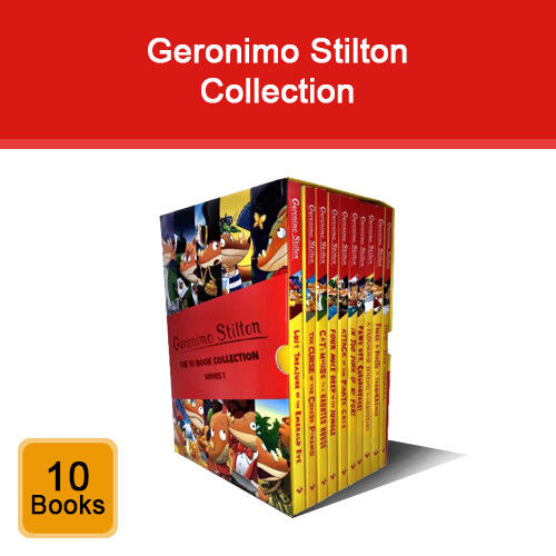 Geronimo Stilton 10 books collection pack set NEW Curse of the Cheese Pyramid pb
