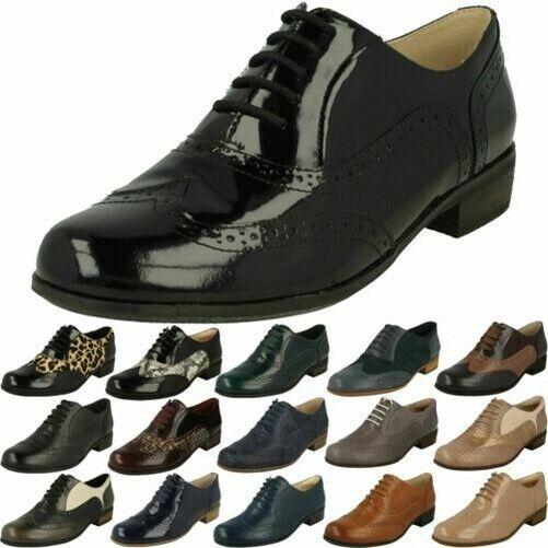 Heeled Brogue Leather Shoes Hamble Oak